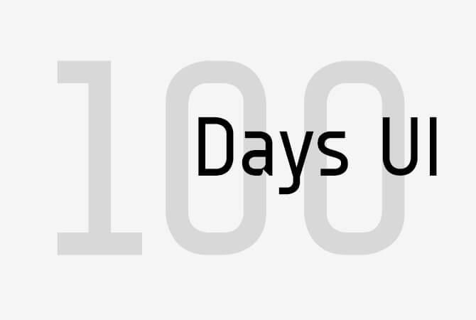 100 Days UI